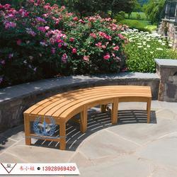 别墅花园长椅 长凳子园林公园椅防腐木实木长凳子图片