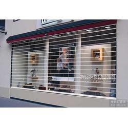 小区别墅车库门定做安装 店铺水晶透视门加工安装图片