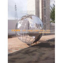 鸿景加工不锈钢地球仪雕塑厂家不锈钢管地球仪雕塑图片