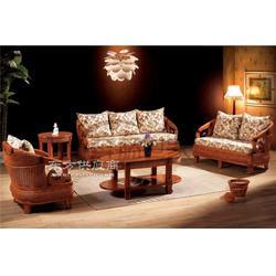 印尼藤编制藤沙发客厅藤沙发组合图片
