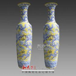 青花瓷花瓶厂图片