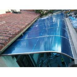 pc阳光板雨棚-红桥阳光板雨棚-顺升不锈钢制品厂家图片