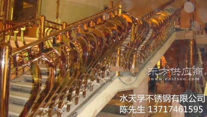 欧洲欧式不锈钢楼梯扶手立柱图片