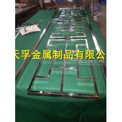 不锈钢电镀中式屏风 不锈钢中式花格屏风图片