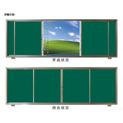 教学推拉黑板-教学推拉黑板厂家-济南书香教具图片