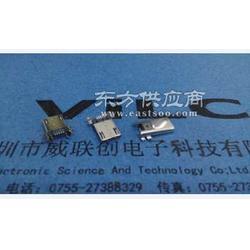 MICRO 5P四脚贴片/贴板公头-SMT编带/卷装可过贴片机图片