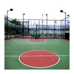 硅PU篮球场铺设、昌平硅PU篮球场、强臣体育硅PU篮球场图片