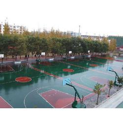 硅PU篮球场|强臣体育硅PU球场施工|河北硅PU篮球场施工图片