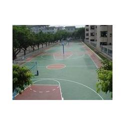 新乡篮球场地-篮球场地施工材料-强臣体育篮球场地施工图片