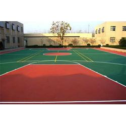 EPDM-EPDM篮球场施工颗粒-强臣体育EPDM篮球场图片
