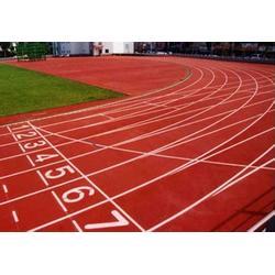 河北塑胶跑道施工低-塑胶跑道-强臣体育塑胶跑道施工图片