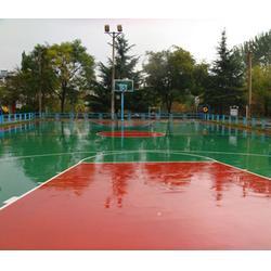 济南PU、强臣体育PU篮球场施工、PU篮球场施工材料图片