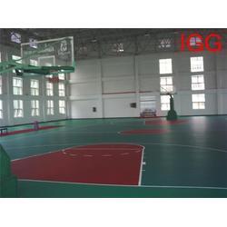聊城篮球场施工、丙烯酸篮球场施工、强臣体育图片