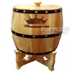 六升装实木酒桶木制酒桶图片