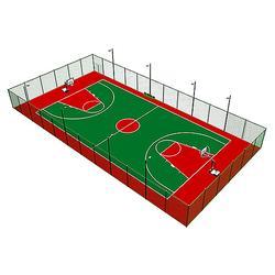 津南区塑胶pu网球场、塑胶pu网球场施工、慧博体育图片