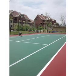 潍坊塑胶网球场,塑胶球场施工,慧博体育图片