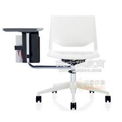 新型课桌椅 学习写字板转椅 可360旋转培训椅厂家图片
