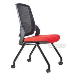 培训椅 多布四脚会议椅定制 学生学习阅览洽谈多功能椅图片