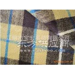粗纺格子呢绒面料图片