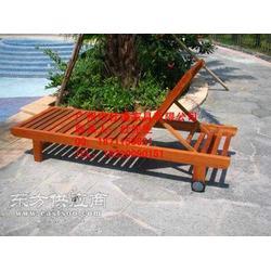 塑料沙滩椅实木躺椅沙滩椅-市杜谦家具有限公司图片