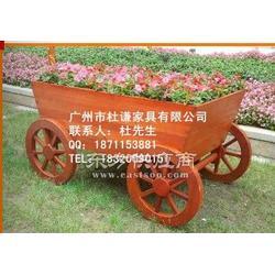 木花车户外车轮花车移动花箱花槽图片