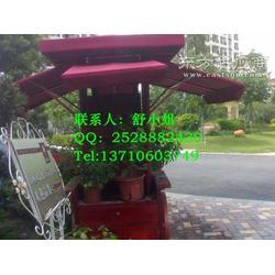 崇州实木售货车邛崃移动花箱不锈钢花槽图片