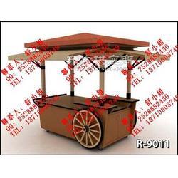 移动售货车 流动餐饮售货车 木制售货车图片