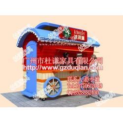 流动实木花车,流动中式售货亭,售卖亭定做图片