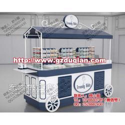 商场景区创意小吃花车货架展示特价促销台折叠售货车摆摊售卖车图片