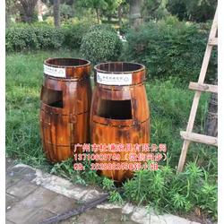 碳化木垃圾桶-景区垃圾桶图片
