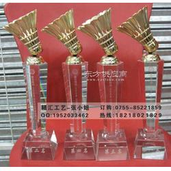 户外羽毛球比赛奖杯定做,羽毛球团体赛水晶奖杯定做图片