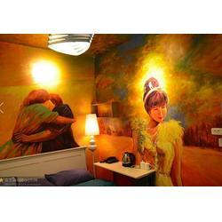 光谷圣诞节手绘墙壁画_名艺画苑_盘龙城手绘墙图片