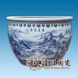 陶瓷青花装饰缸图片