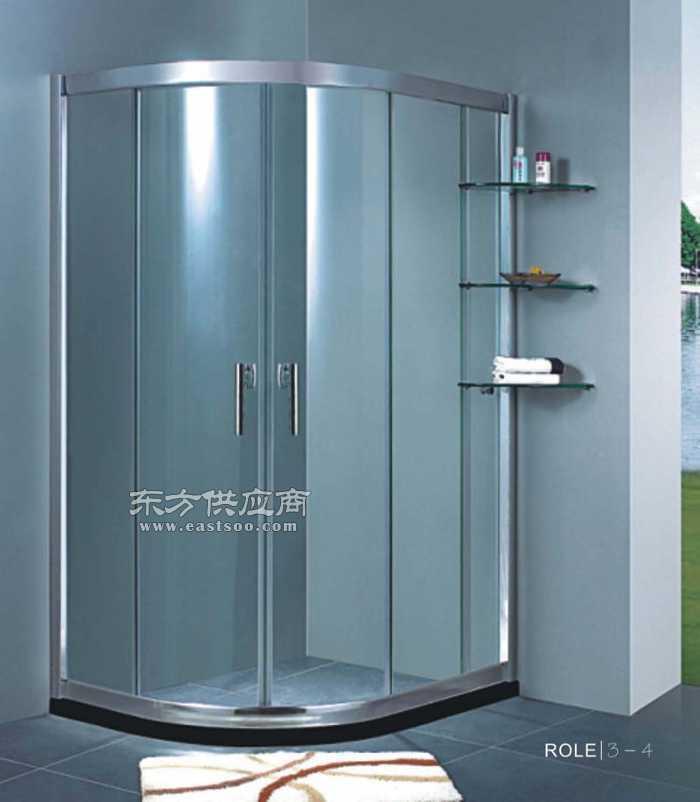 淋浴房隔断吊趟门洗手间玻璃门卫生间挡水屏风图片 高清图片
