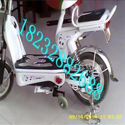 电动车防滑两轮支撑 自行车防摔左右支撑图片
