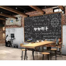 餐厅客厅墙纸壁画效果 包厢背景墙中式壁纸订制 3D立体复古石头墙纸公司图片