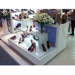 鞋柜皮鞋展柜 皮鞋展示柜鸿卓展柜厂图片