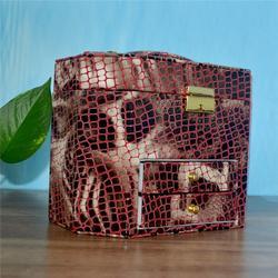 皮革首饰盒定做、中山皮革首饰盒、永世嘉箱包厂图片