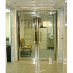 防火玻璃门、怡峰建材、消防指定防火玻璃门图片