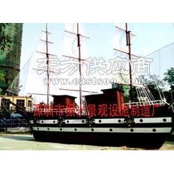 木制观赏船木制景观船图片