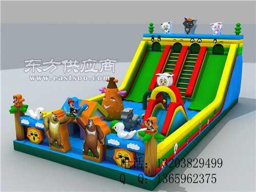 哪里生产充气玩具城堡滑梯图片