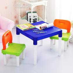 高品质家用塑料桌椅 幼儿园儿童塑料桌椅 学习写字塑料桌椅套装图片