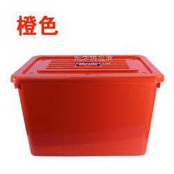 杂物整理塑料储物箱 超大容量塑料储物箱 滑轮带盖塑料储物箱图片