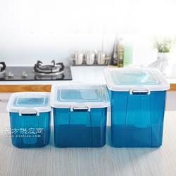 家用翻盖式塑料储米箱 厨房带盖塑料储米箱 多功能收纳塑料储米箱图片