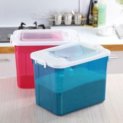 家用厨房带盖塑料米箱 杂粮面粉收纳塑料米箱 耐用环保PP塑料米箱图片