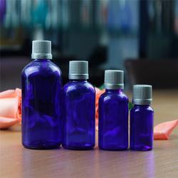【50ML蓝色精油瓶】、定做50ML蓝色精油瓶、孚日玻璃图片
