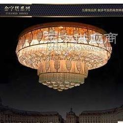 雷蒙独家制造光源功率只有50w的太极造型LED水晶灯图片