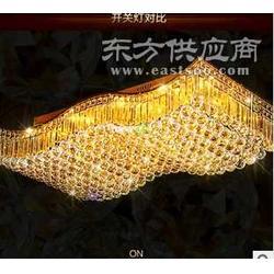 佳奂专业制造颜色绚丽灯光明亮的LED长方形水晶灯图片