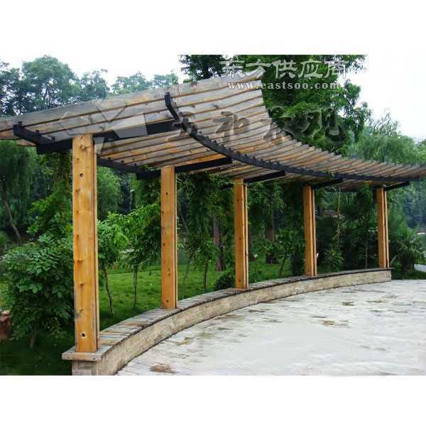 园林防腐木廊架等园林景观设施图片