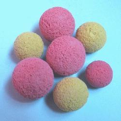 金刚砂胶球、昊元净水(已认证)、胶球图片